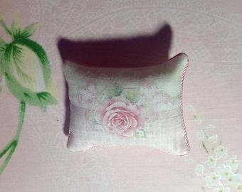 Dollhouse miniature handmade pillows shabby