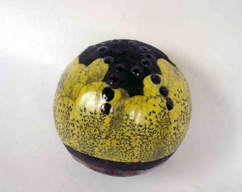 Raku ceramic the sphere - OOAK - europeanstreetteam