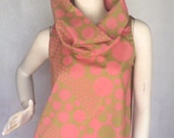 Pink & Green Cotton Voile Summer Top