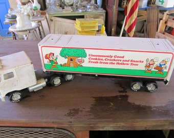 Nylint Toy Truck  - Nylint Tractor Trailer - Nylint Toy -Keebler Cookies Toy - Metal Toy Tractor Trailer - Metal Toy - Metal Tractor Trailer