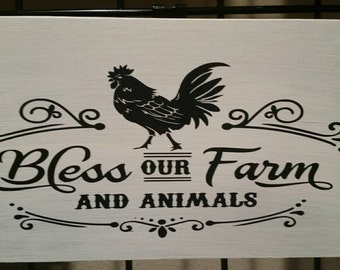 Bless Our Farm sign