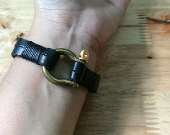 Leather Bracelet, Men Bracelet, Best Friend bracelet, Leather Cuff Bracelet, Personalized leather bracelet, Custom Bracelet, Wristband, Cuff