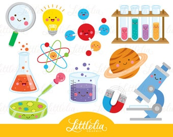 Science kawaii clipart - Scientist clipart - 16035