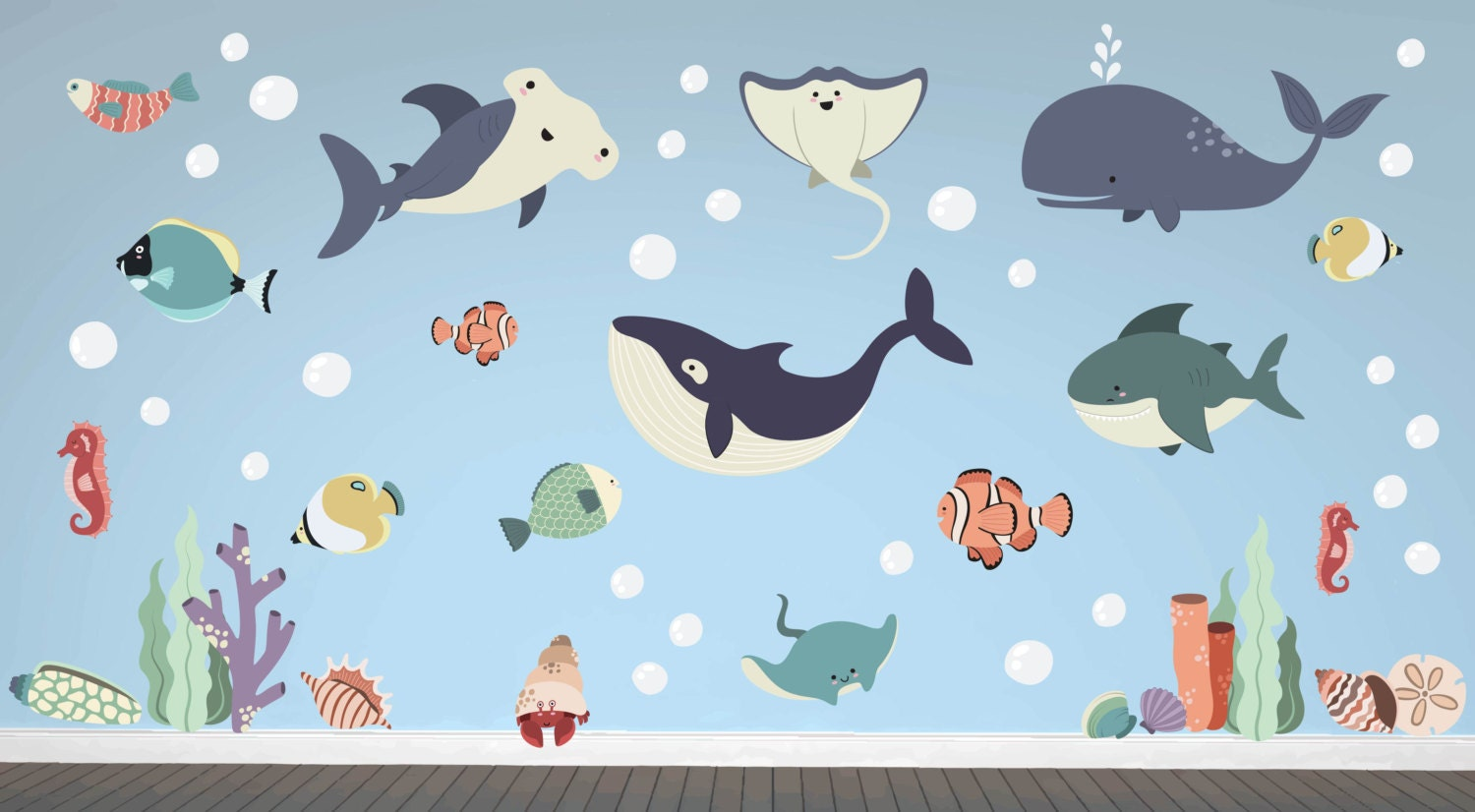 Ocean nursery ocean wall decals ocean wall art ocean zoom amipublicfo Gallery