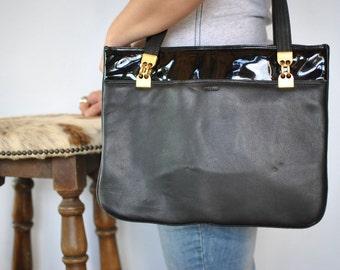 Vintage PICARD LEATHER bag , shoulder leather bag ....(400)