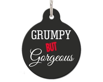 Grumpy But Gorgeous Pet ID Tag | FREE Personalization