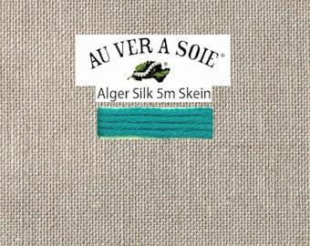 Kreinik - Au Ver A Soie - Soie d'Alger - Color 134E - Teal Blue Medium Dark- 5.5 Yards - By the Skein