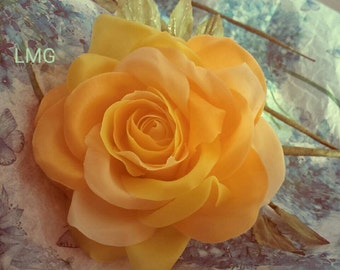 Shades of orange cold porcelain memorial rose