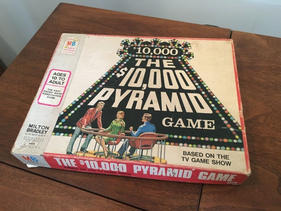 vintage 10000 dollar pyramid game tv show board game. Black Bedroom Furniture Sets. Home Design Ideas