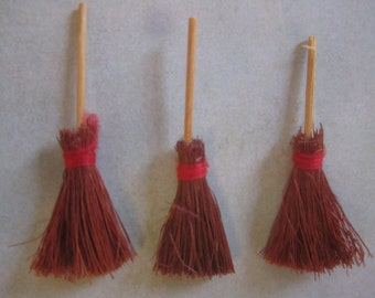 Miniature Brooms, Witches Brooms, Craft Brooms, Dollhouse Broom