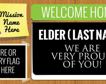 Custom Missionary Welcome Home Banner