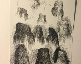 Rock Sketch #2