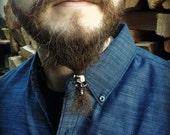 beard bead kit 'Grandaddy Skull' STAINLESS STEEL beard rings viking beard bead stainless steel dwarf viking biker goth hair bead beard kit