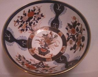 Vintage Large Decorative Porcelain Bowl made in Macao