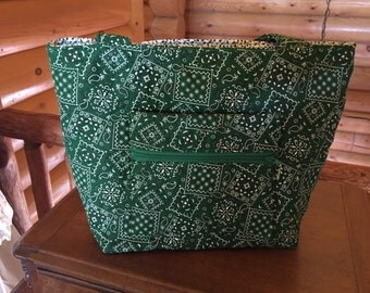 Green Bandana Handbag