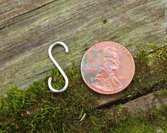 """10 Handmade 3/4"""" S-Hooks -Silver-"""
