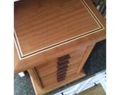 8 Drawer Jewelry Box Maple and Walnut