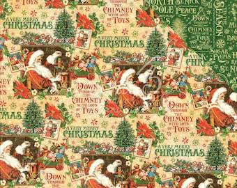 2 Sheets of ST. NICHOLAS Christmas Scrapbook Paper by Graphic 45 - Santa's Workshop