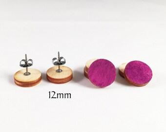 Laser cut wood 12mm circles. Laser cut wood jewelry supply. Laser cut circle wood earring blanks. Wood earring supply. DIY wood supplies.