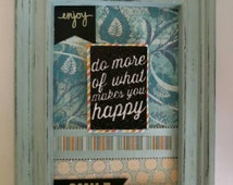 Shabby chic home decor live laugh love framed art inspirational shabby chic picture in distressed frame mint frame