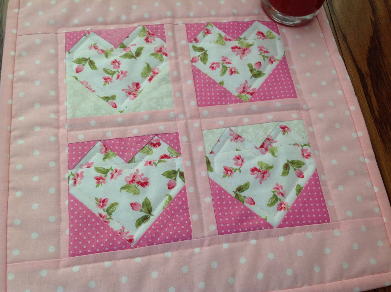 Miniature Quilt Patterns Paper Pieced : Miniature Heart Quilt Foundation Paper Pieced Heart Mini