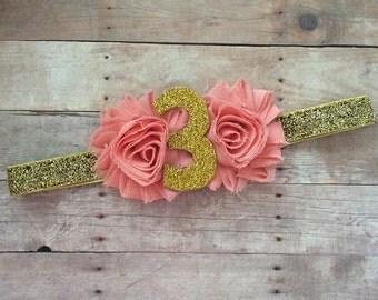 Number Birthday Headband