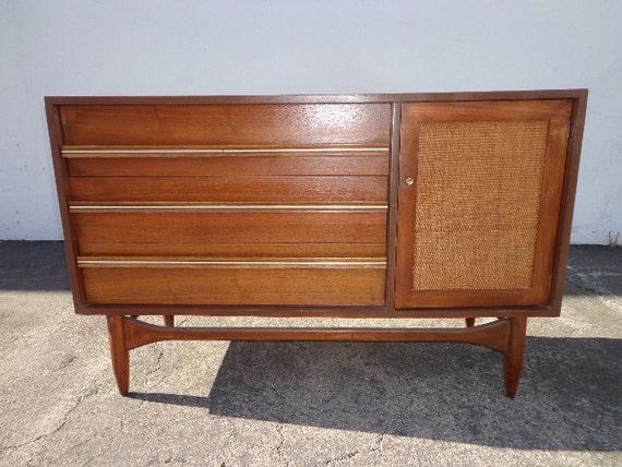 sold mid century modern media console cabinet by dejavudecors. Black Bedroom Furniture Sets. Home Design Ideas