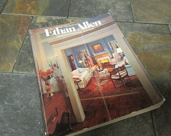 vintage 1976 Ethan Allen Furniture Catalog, Treasury of Ethan Allen American Interiors , 1970s furnishings