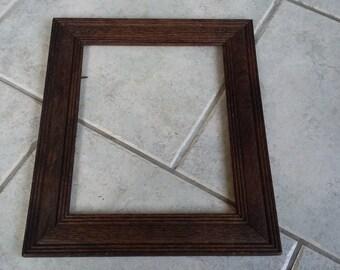 Vintage Fluted Oak Frame