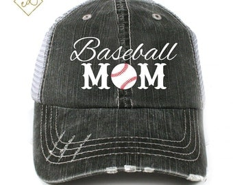 Baseball Mom Trucker Hat Sports Mom Soccer Basketball Football Mom
