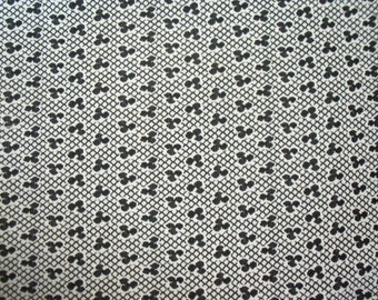 Polyester Double Knit Fabric ~ Black White Geometric ~ 1 1/3 yards ~ Vintage Sewing 1960's 1970's