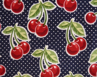 Black spotted CHERRY quilting cotton 1 yard