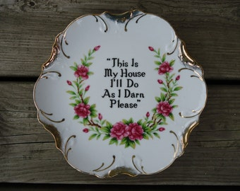 This is My House Plate
