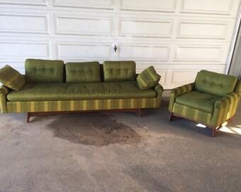 Adrian Pearsall Mid Century Modern Gondola Sofa And Lounge Chair Set Vintage Atomic