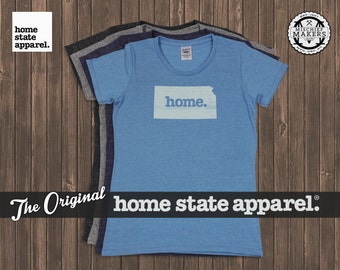 Kansas Home. T-shirt- Womens Cut