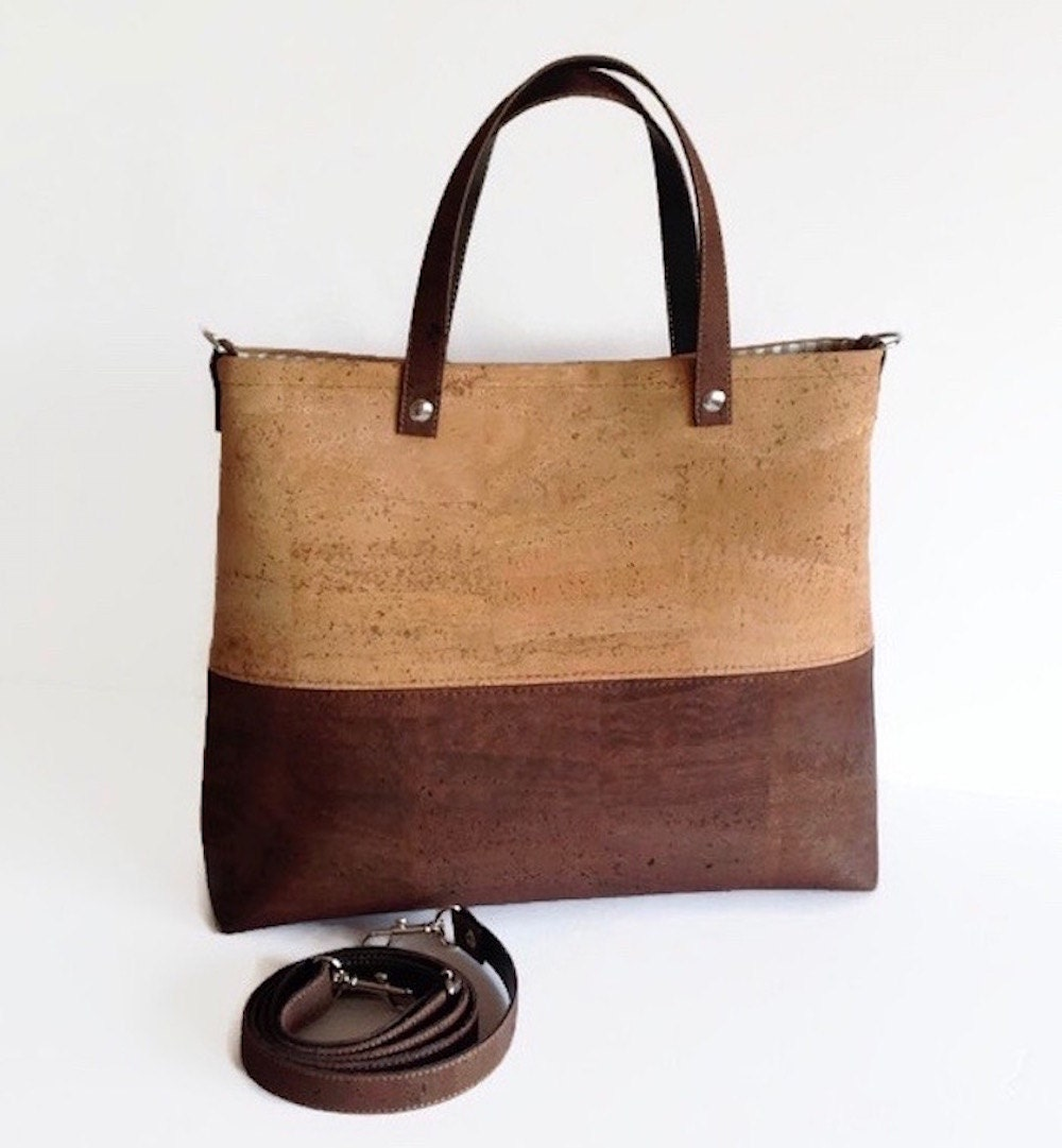 Cork Handbags: Cork Handbag Vegan Crossbody Bag Eco Friendly Gift For