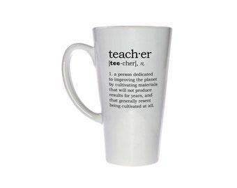 Teacher Definition 17oz Tall Coffee or Tea Mug - Latte Size - Perfect Teacher Gift