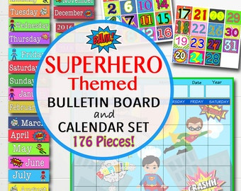 Bulletin board classroom etsy for Calendar bulletin board printables