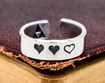 Zelda Heart Containers Ring