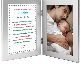 1st Father's Day Gift for Daddy from Son or Daughter - Personalized - Add Photo (#70-777)