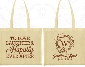 Love Laughter and Happily Ever After Bags, Cheap Tote, Monogram Bags, Monogrammed Bags, Custom Tote (61)