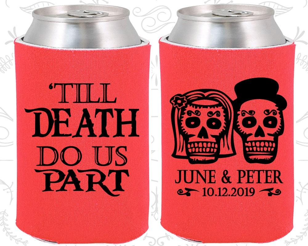 Day Of The Dead Wedding Gifts: Till Death Do Us Part Sugar Skull Wedding Favors Day Of The