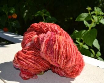 """Skein of yarn dyed hand """"Vézuve"""""""