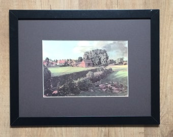 "Framed and Mounted Golding Constable's Flower Garden Print by John Constable - 16"" x 12"""