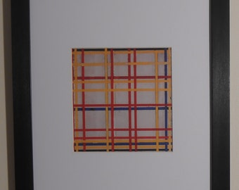 """Mounted and Framed - New York City I Print by Piet Mondrian - 14"""" x 11"""""""