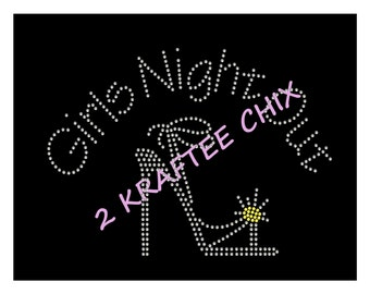 Girls Night Out Rhinestone Shirts, Girls Night Out Bling Shirts, GNO Rhinestone Shirts, GNO Bling Shirts, Girls Night Out Rhinestone Tshirts