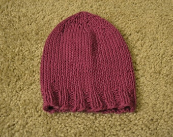 Hand-Knitted Baby Hat