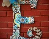 """Beautiful Handpainted Custom 22"""" Door Letter Hangers *Any color design you desire*"""