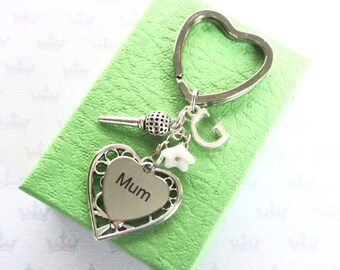 Mum keyring - Golf gift - Mum Birthday gift - Golf keyring - Mother's Day gift - Gift for golf player - Personalised Mum gift - UK seller