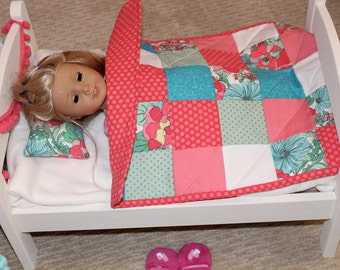 Pretty Patchwork Doll Quilt
